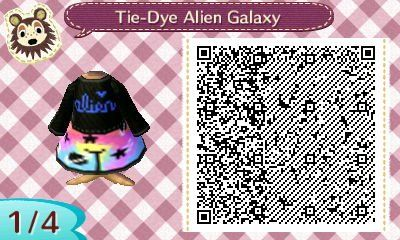 Acnl Qr Alien Galaxy Outfit Source Studio Lala On Pinterest Animal Crossing Qr Animal Crossing Acnl