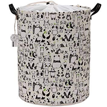Sea Team Large Size Panda Design Canvas Fabric Laundry Hamper