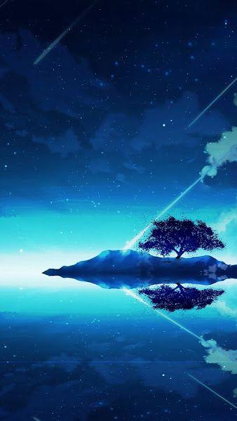 Anime Scenery Night Sky Clouds Horizon 4k 3840x2160
