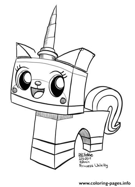 Princess Unikitty Coloring Pages Amazing Design