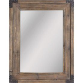 Allen Roth 30 In X 40 Reclaimed Wood Rectangle Framed Wall Mirror
