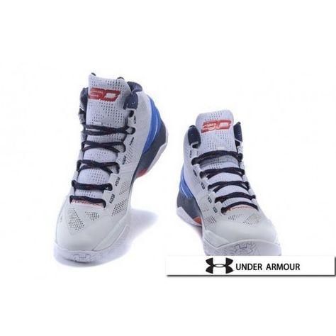 UA Curry 2 - Womens UA Curry 2 White Blue Red Basketball Shoes ... e2c7c8d2c4