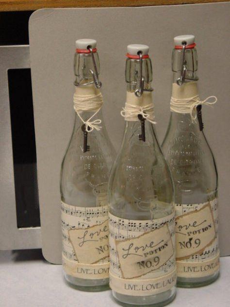 trash to treasure..french glass bottles..neat idea
