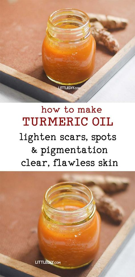 HOW TO MAKE TURMERIC OIL with benefits and uses