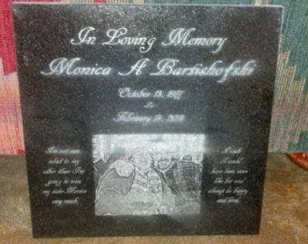 Personalized Laser Engraved Granite Pet Grave Marker 12 Etsy Pet Grave Markers Laser Engraving Grave Marker