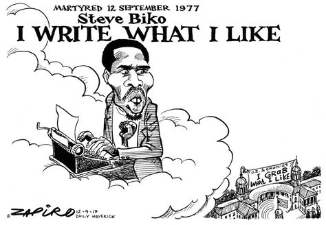 Biko 40 years on #SteveBiko - Zapiro Sep. 2017