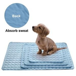 Dog Mat Cooling Summer Pad Mat For Dogs Cat Blanket Sofa Breathable Pet Dog Bed Summer Washable For Small Medium Large Dogs Car Dog Pet Beds Dog Mat Cat Blanket