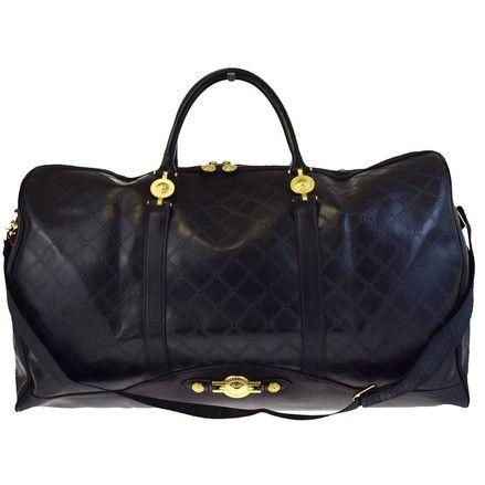e1bcaa6e1458 Logos 2way Shoulder 32ea110 Black Leather Rubber Weekend Travel Bag ...