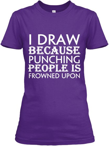 fd4f0d444 Draw | Clothes | Pinterest | T shirt, Purple t shirts and Workout ...