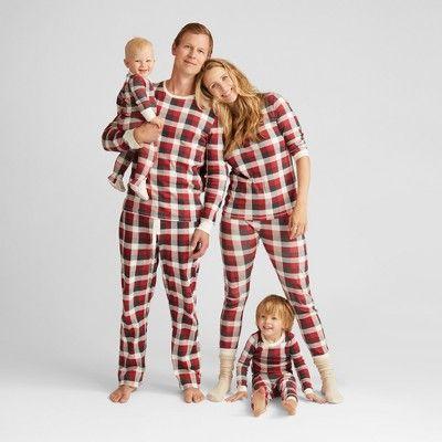 Burt s Bees Baby Toddler Organic Cotton Buffalo Plaid Pajama Set -  Cranberry 4T 0c2304116
