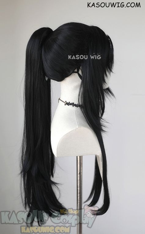 Grandmaster of Demonic Cultivation ( Mo Dao Zu Shi ) Wei Wuxian long black ponytail cosplay wig,Others,Character Wig Kawaii Hairstyles, Pretty Hairstyles, Wig Hairstyles, Cosplay Hair, Cosplay Wigs, Black Cosplay Wig, Cosplay Style, Lolita Hair, Goth Hair