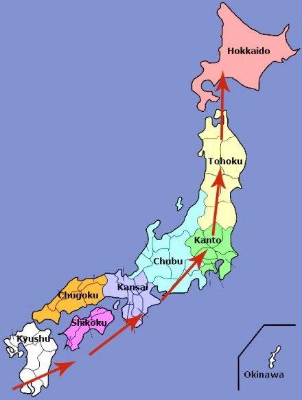 2020 Japan Cherry Blossom Forecast Kyuhoshi Japan Fall Foliage Japan Sakura