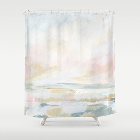 Golden Hour Pastel Seascape Shower Curtain By Kristenlaczi