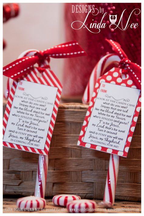 Legend of the Candy Cane Gift Tag Card for by DesignsbyLindaNee
