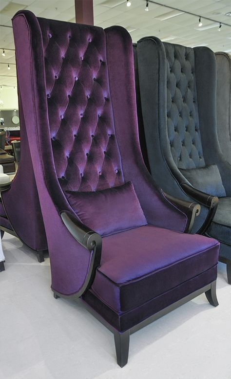 High Back Wing Chair Duchess Purple In 2020 Wing Chair Purple Furniture Chic Accent Chairs