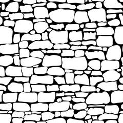 Stones Seamless Pattern Vector Rock Stone Wall Seamless Texture Stonewall Background Brick Stone Wall Natu Stone Wall Wall Texture Design Seamless Textures