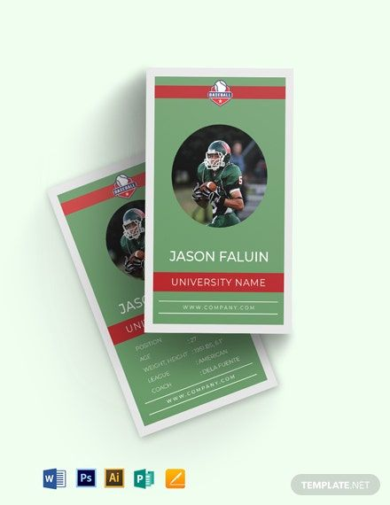 Instantly Download Football Trading Card Template Sample Example In Adobe Photoshop Psd Adobe Trading Card Template Card Template Football Trading Cards