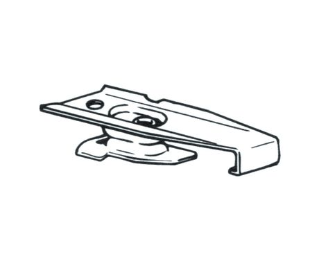 Graber Ceiling Mount Traverse Rod Brackets For Super Heavy Duty Or