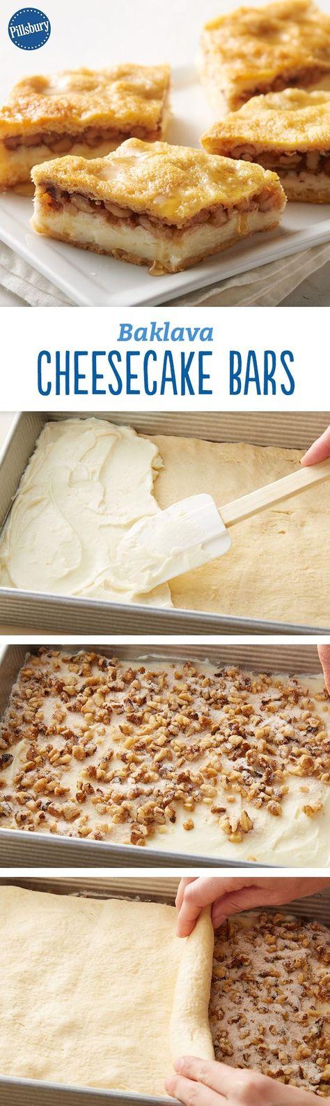 Photo of Baklava Cheesecake Bars
