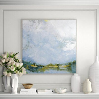 Lillian August Pond Early Evening Print On Canvas Perigold In 2020 Oversized Wall Art Painting Prints Painting