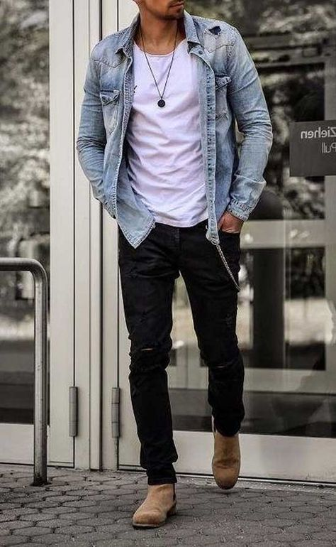 Mens Fall Outfits, Stylish Mens Outfits, Stylish Clothes For Men, Cool Outfits For Men, Stylish Man, Nice Casual Outfits For Men, Mens Dress Outfits, Casual Jeans, Simple Outfits