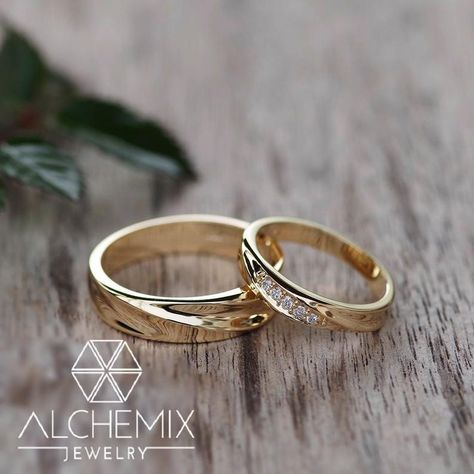 Alchemix 14K Yellow Gold Genuine Diamond His/Her Lover   Etsy