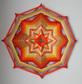 Mandalas Olho de Deus: MANDALAS EM FIOS - 30 cm de diâmetro