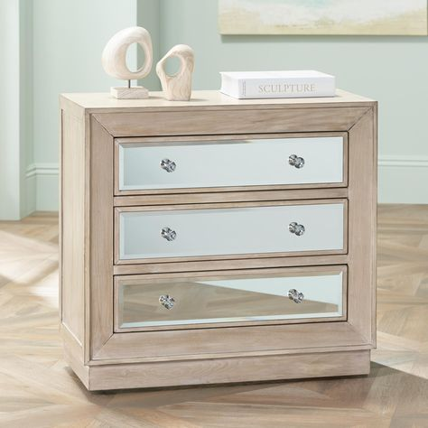 Oak Wood Drawer Accent Chest