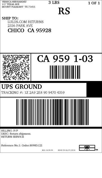 Lulus Return Label : lulus, return, label, Verizon, Wireless, Shipping, Label, Design, Ideas