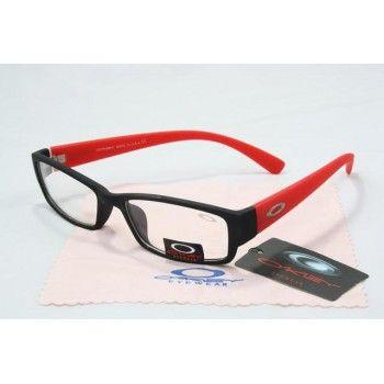 d627893598b8 Imitation Oakley Plain Glass Sunglasses matte black-red frames clear lens    See more about oakley, sunglasses and frames.