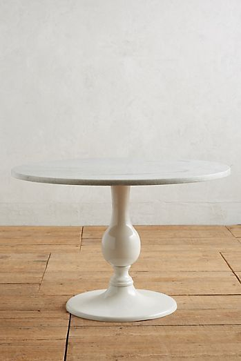 Annaway Dining Table Round Marble