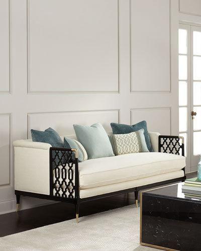 Caracole Anya Lattice Sofa Furniture Design Sofa Design Luxury Sofa