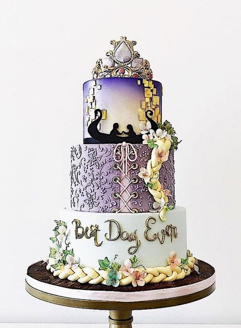 How YOU doin'? ::eyebrow waggle:: No really, how're you hanging in with all this. hanging in? Do you have enough of these bad boys? Camo Wedding Cakes, White Wedding Cakes, Pretty Cakes, Cute Cakes, Fancy Cakes, Pink Cakes, Tangled Wedding, Quince Cakes, Dragon Cakes