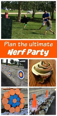 Plan the Ultimate Nerf Battles Birthday Party - ideas for invitations, DIY  activities, a