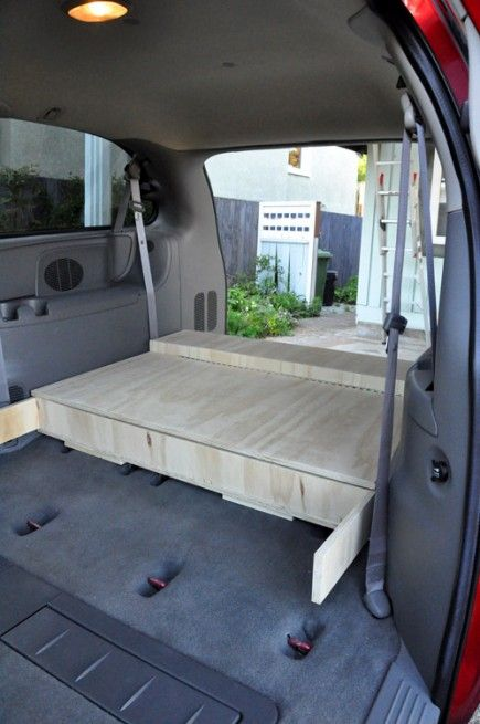 Camperizing A Minivan Minivan Camping Town Country Minivan
