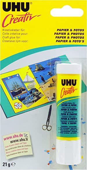 Uhu Stic Photo Baton de Colle sans solvant 21 g Blanc
