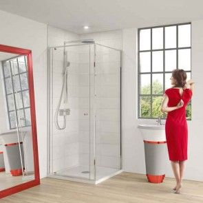 Matki One Pivot Corner Shower Door 1100mm Mopc1100 Shower Doors Corner Shower Enclosures Corner Shower Doors