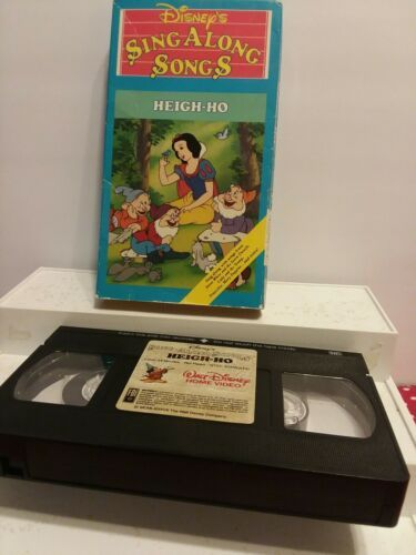Disney S Sing Along Songs Heigh Ho Vhs Us Polybull Com In 2021 Sing Along Songs Singing Songs