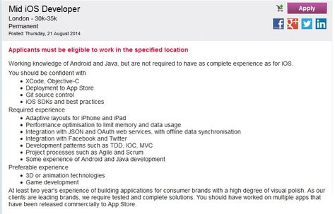 ASAP Start! Excellent employment opportunity, Mid iOS Developer - ios developer resume