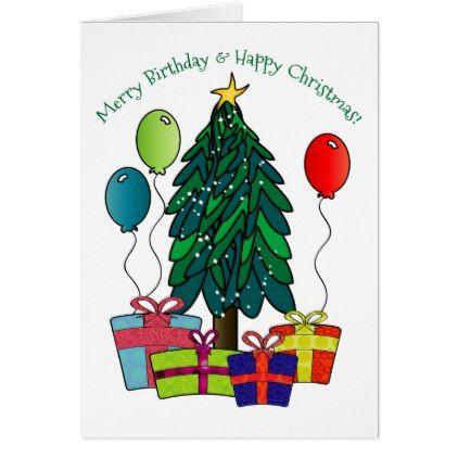 Merry Birthday Happy Christmas Holiday Card Zazzle Com Happy Birthday Greeting Card Birthday Greetings Happy Christmas Card
