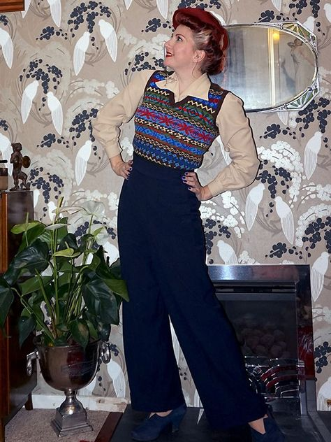 1940s style ladies swing trousers
