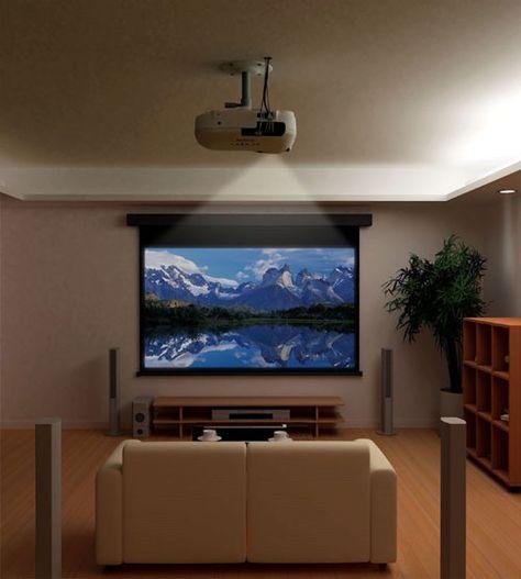 14 best salon cinema images on Pinterest Movie theater, Tv rooms - meuble tv home cinema integre watts