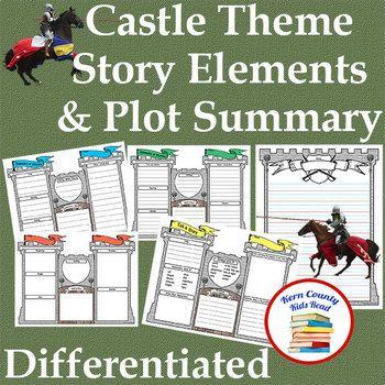 Castle Theme Story Elements Plot Summary Graphic Organizer Summary Graphic Organizer Graphic Organizers Story Elements