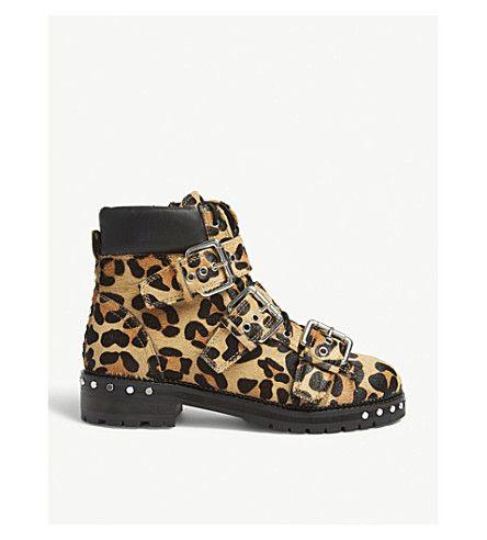 Topshop Animal Leopard-print Ankle