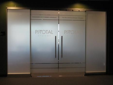Beautiful Frosted Glass Door Design For Contemporary Interior