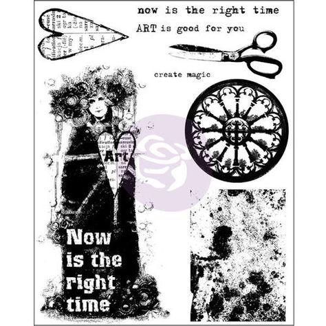 Prima Marketing Finnabair Cling Stamps 6X7.5-Trust The Magic