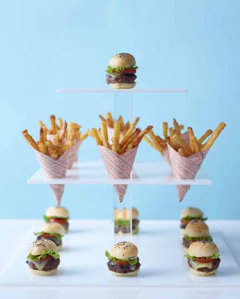 Mini burgers & fries! (that makes mini calories) and are great for parties!