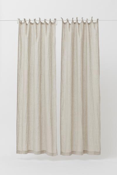 2 Pack Linen Curtain Panels Linen Curtain Panels White Linen