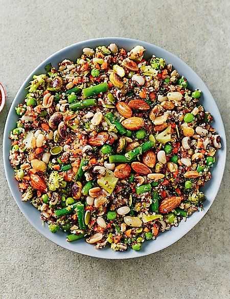 Super Nutty Wholefood Salad Serves 6 8 Wholefood Salad Whole Food Recipes Superfood Salad