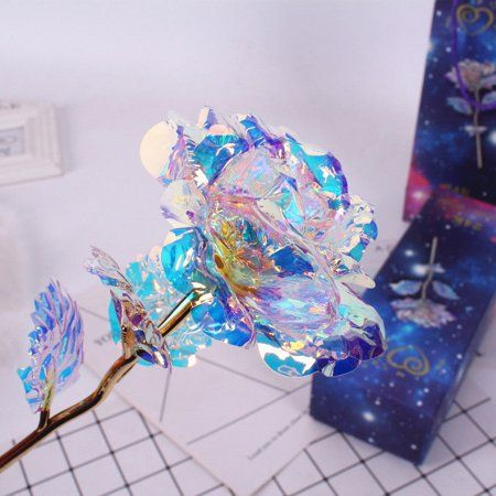 Galaxy Rose Flower Valentine's Day Lovers' Gift Romantic Crystal Rose With Box Rosen Box, Cristal Rose, Forever Rose, Magical Jewelry, Romantic Flowers, Romantic Gifts, Romantic Dates, Fantasy Jewelry, Resin Crafts